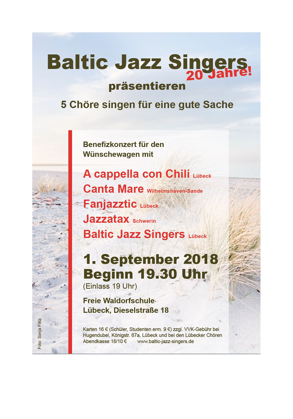 Baltic Jazz Singers Benefiz Wuenschewagen