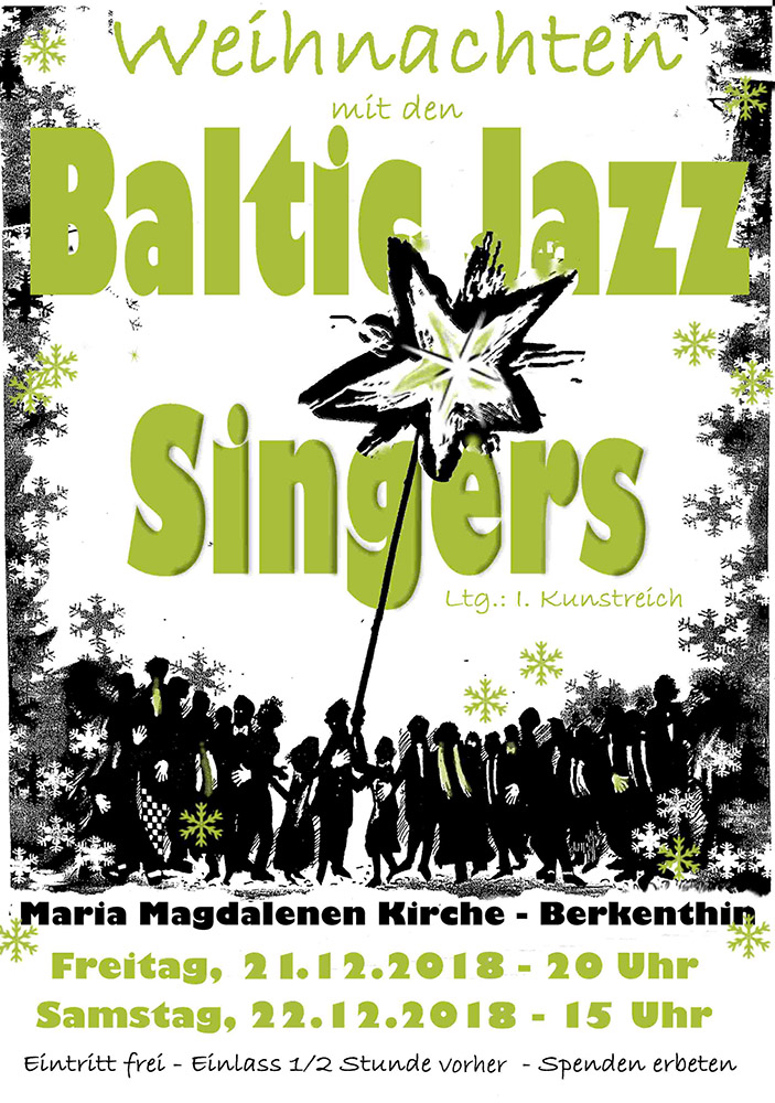 A cappella Chor • Baltic Jazz Singers • Pop, Jazz Chor in Lübeck - Gestaltung: Matthias Brandt